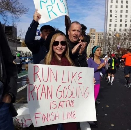 running spectator shirts   how many miles is the marathon   when your legs get tired run with your heart quotes