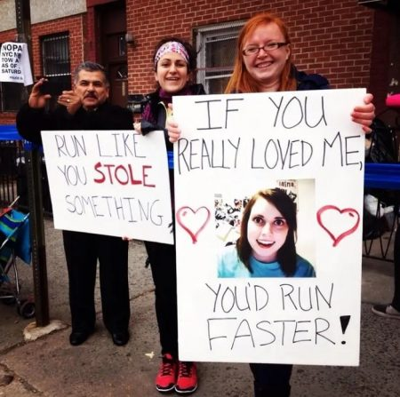 funny signs to make for marathon runners   what to say to cheer on a runner   when your legs get tired run with your heart quotes